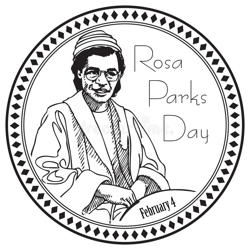 Rosa Parks Day illustrazione vettoriale