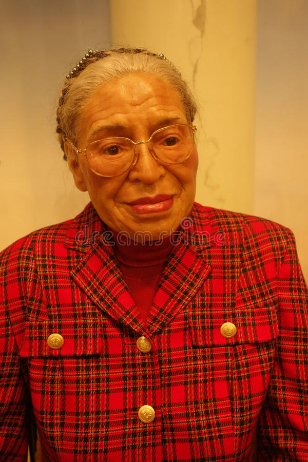 Rosa Parks Wax Figure immagine stock
