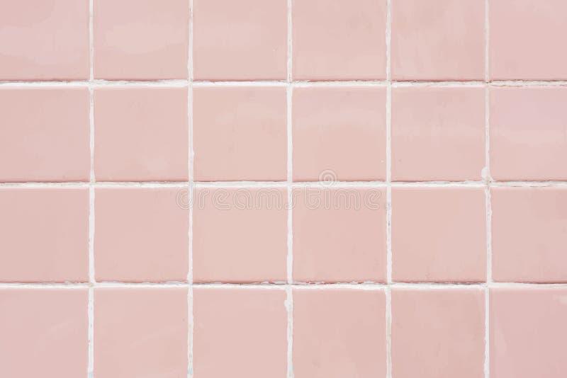Rosa Pastell deckt strukturierte Tapete mit Ziegeln vektor abbildung