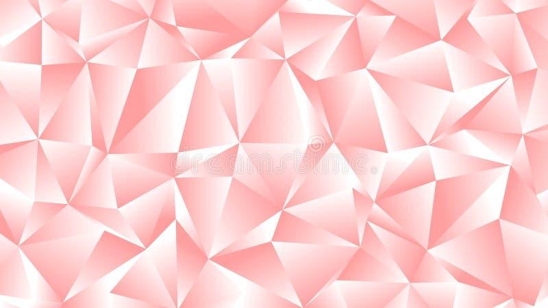 Rosa Pfirsich-niedriger Polyhintergrund-Pastellentwurf vektor abbildung