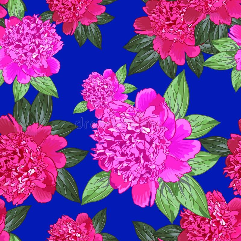 Rosa pion seamless royaltyfri illustrationer