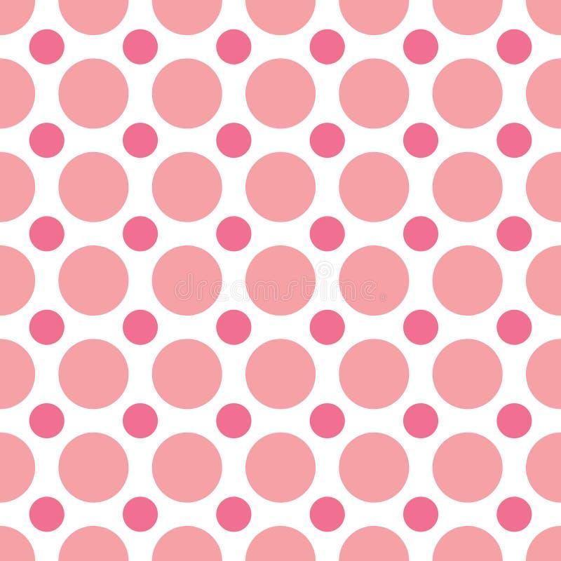 rosa polka för prickar stock illustrationer