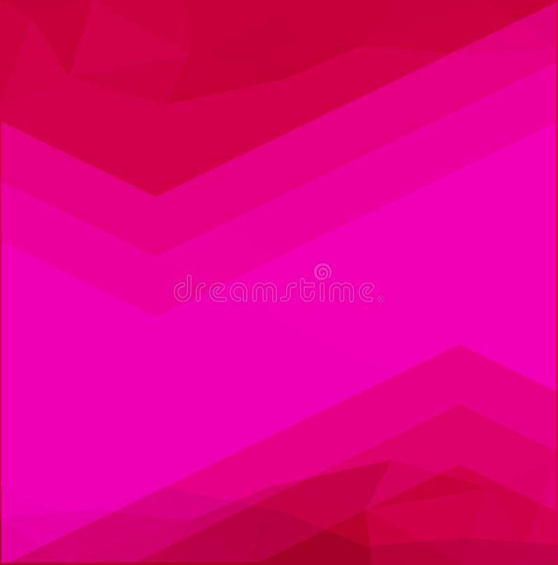 Rosa polygonal illustration, som består av trianglar vektor illustrationer