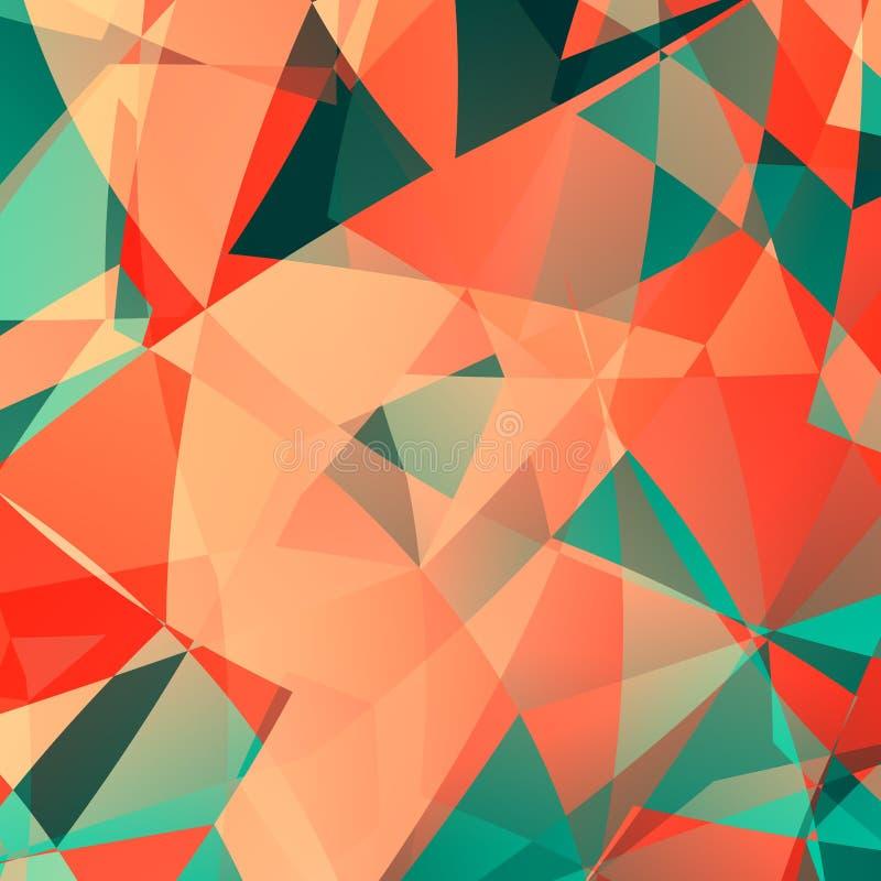 Rosa polygonal teknologibakgrund Designwebbsida, affärsreklamblad Konstillustration Modellmodeformgivare Color mönstrar stock illustrationer