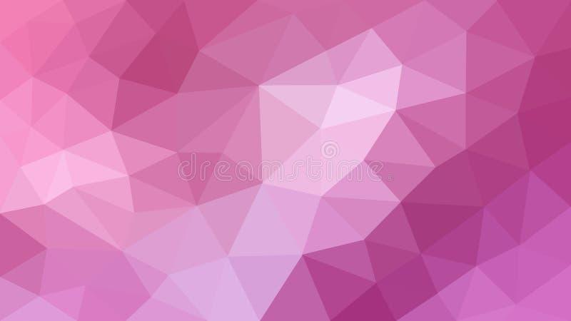 Rosa Polygonal textur för abstrakt bakgrund royaltyfri bild