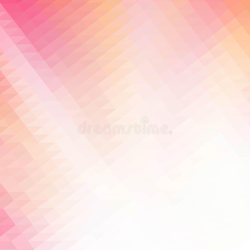Rosa polygonale Illustration, die aus Dreiecken bestehen Geometrischer Hintergrund in der Origamiart mit Steigung Dreieckiges Des vektor abbildung