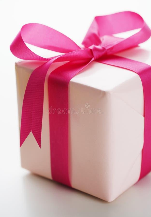 rosa present arkivfoton