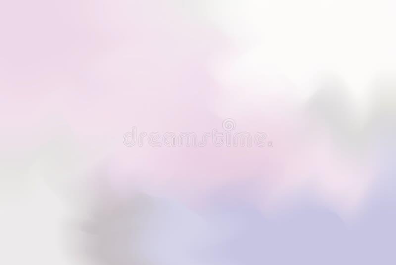 Rosa purpurrote weiche Farbe mischte Hintergrundmalerei-Kunst-Pastellzusammenfassung, bunte Kunsttapete vektor abbildung