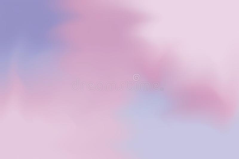 Rosa purpurrote weiche Farbe mischte Hintergrundmalerei-Kunst-Pastellzusammenfassung, bunte Kunsttapete stock abbildung