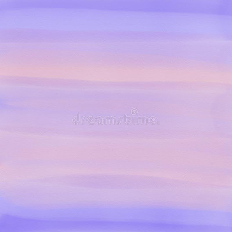 Rosa-, Purpurroter und hellblaueraquarellsteigungs-Zusammenfassungshintergrund Dunkles Fantasiethema lizenzfreie abbildung