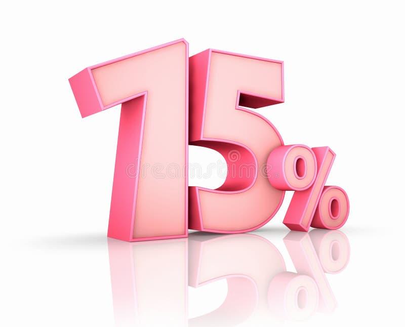 Rosa quindici per cento illustrazione di stock
