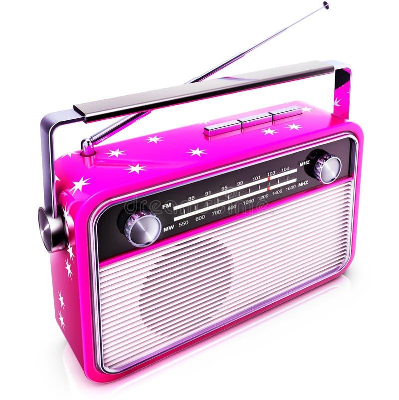 Rosa Radio stock abbildung