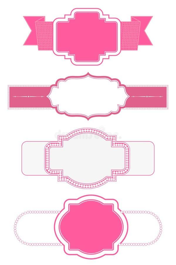Rosa Rahmen vektor abbildung. Illustration von bescheinigung - 33697509