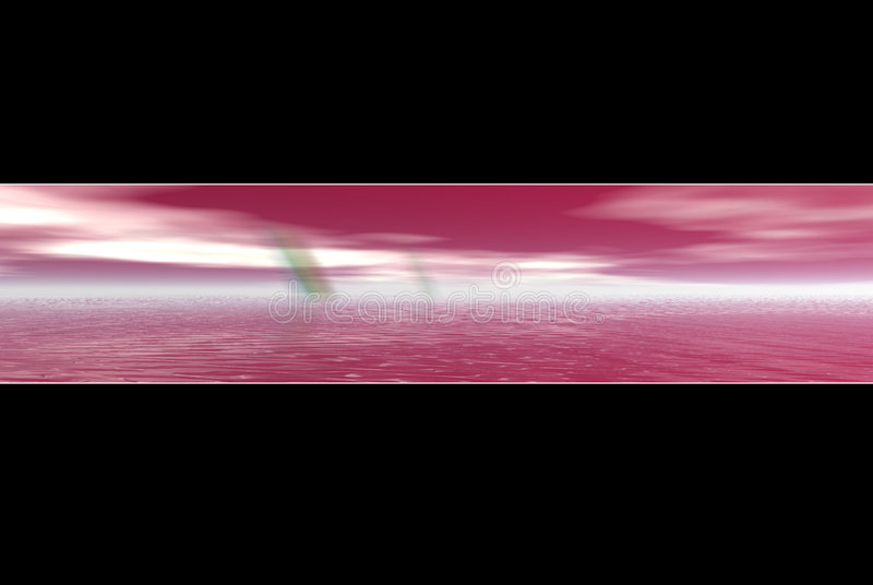 rosa regnbågevatten för baner royaltyfri illustrationer