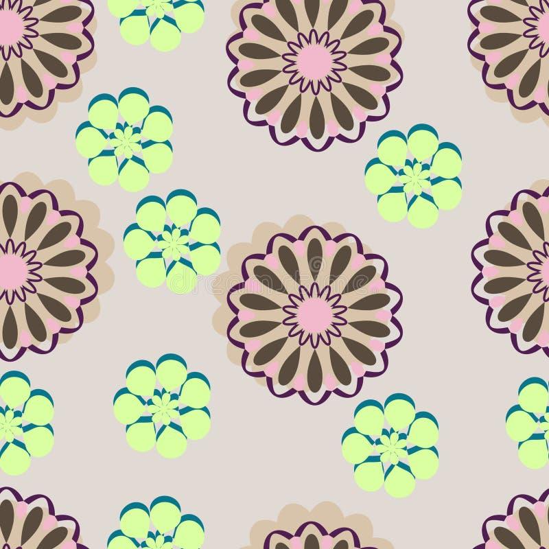 rosa retro för blommor royaltyfri illustrationer