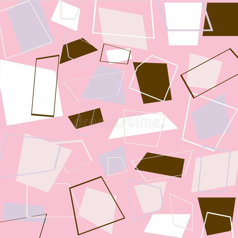 rosa retro fyrkanter stock illustrationer