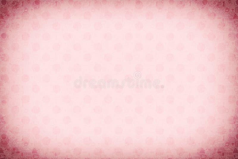 Rosa Kreishintergrundillustration stockbilder