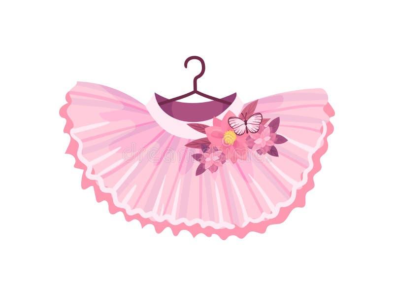 Rosa Rock des Balletts Vektorabbildung auf wei?em Hintergrund lizenzfreie abbildung