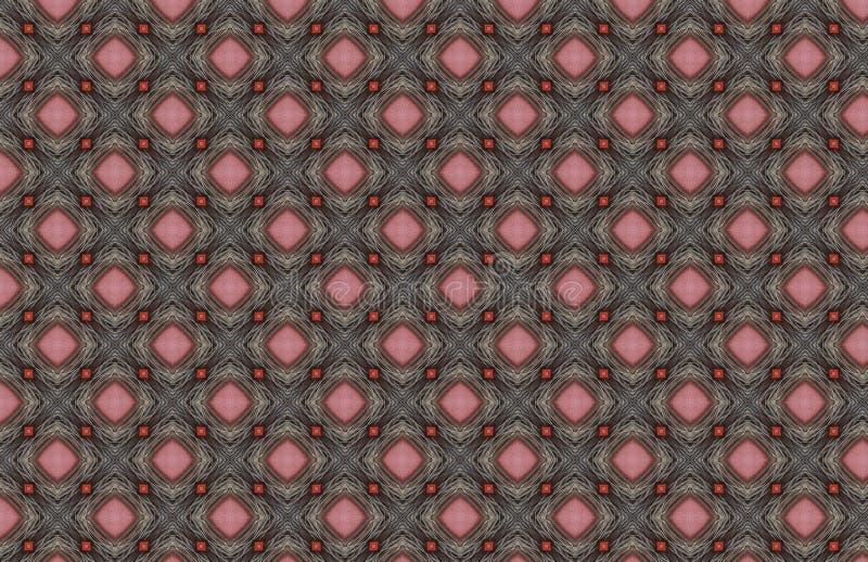 Rosa rojo Gray Wire Geometric Pattern Design libre illustration