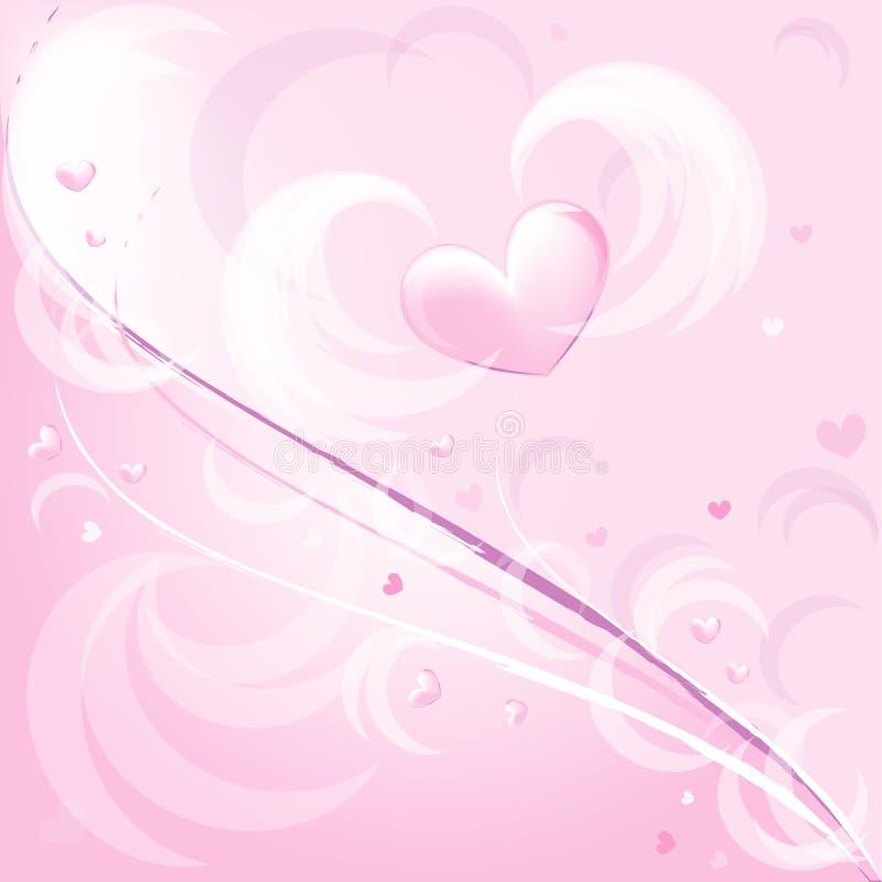 rosa romantiker för bakgrund stock illustrationer