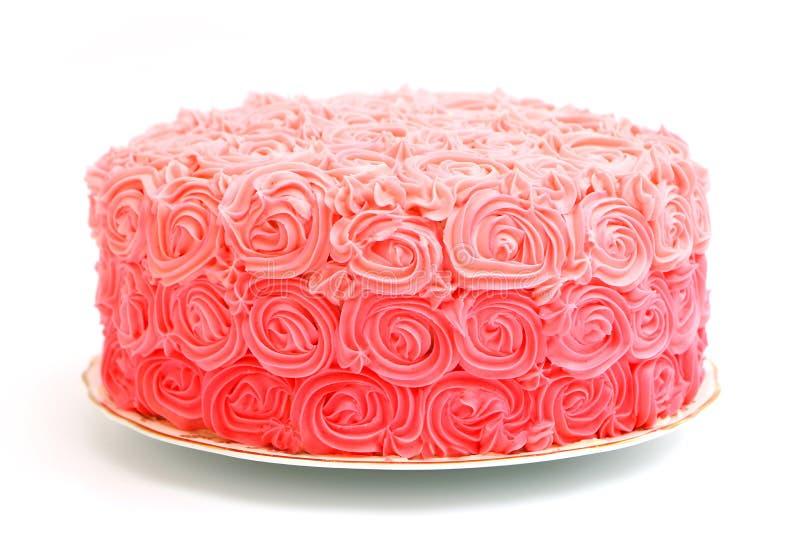 Rosa Rose Gradient Cake fotografering för bildbyråer