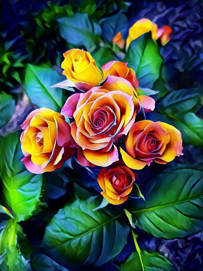 Rosa Rosen auf einem Bett nahe dem Haus stockbilder