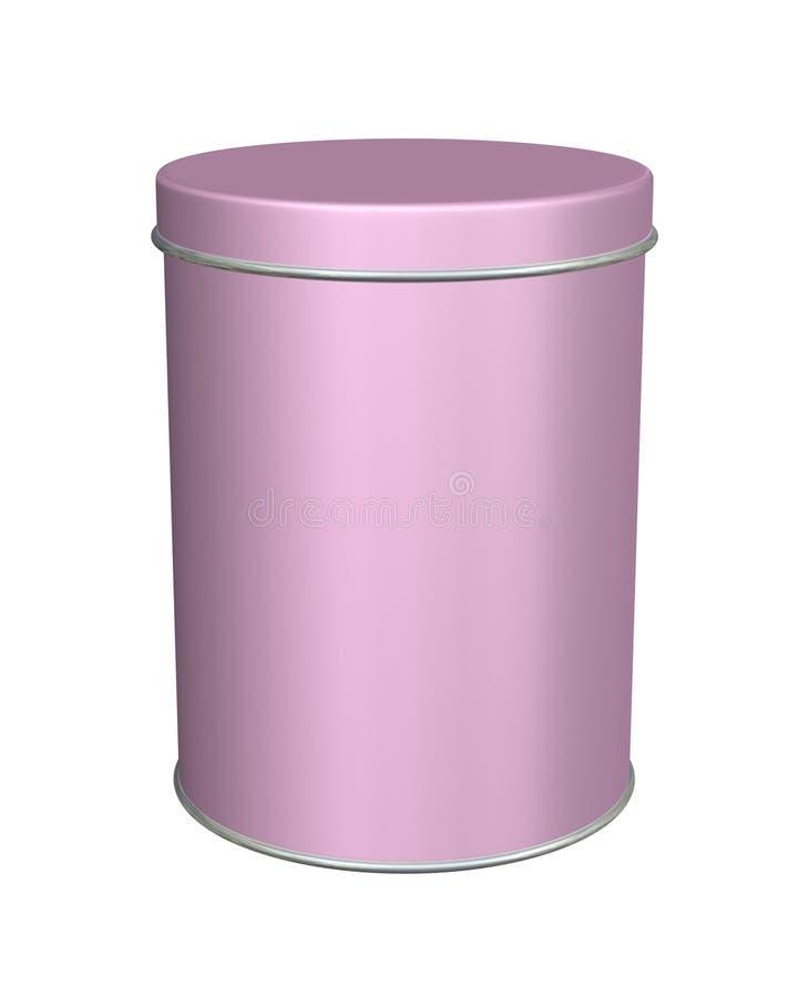rosa rund tin för metall vektor illustrationer