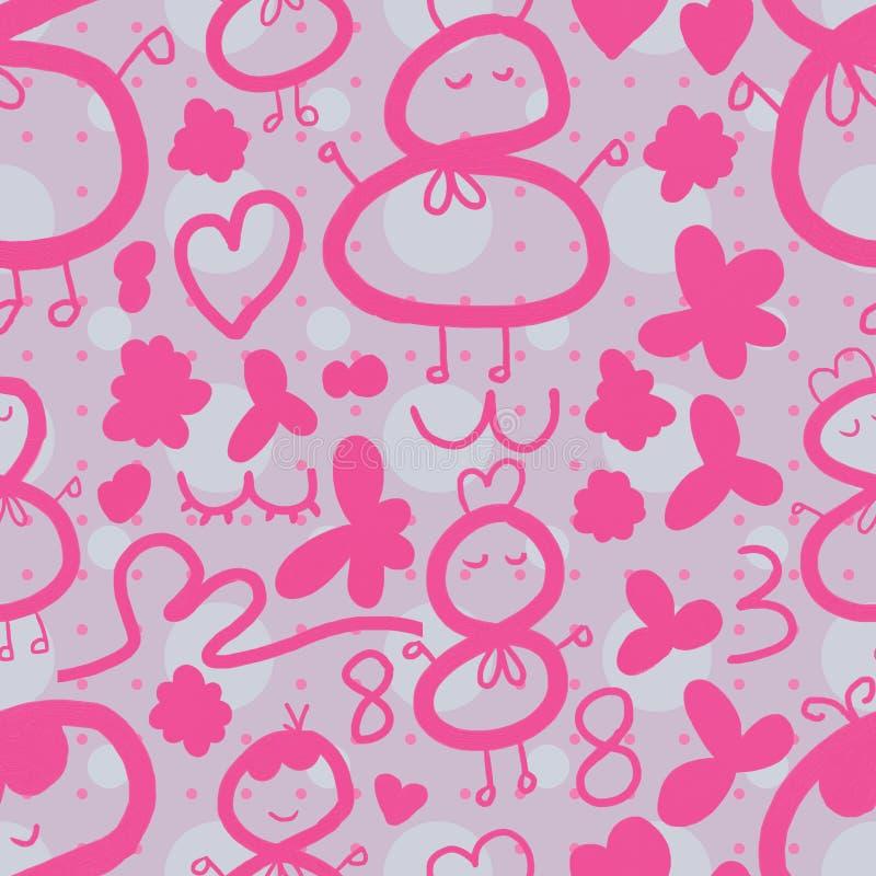 rosa sömlös modell 38 stock illustrationer
