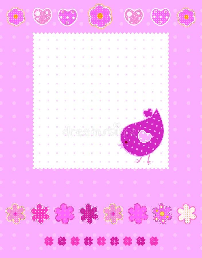 rosa sötsak för bakgrund royaltyfri illustrationer