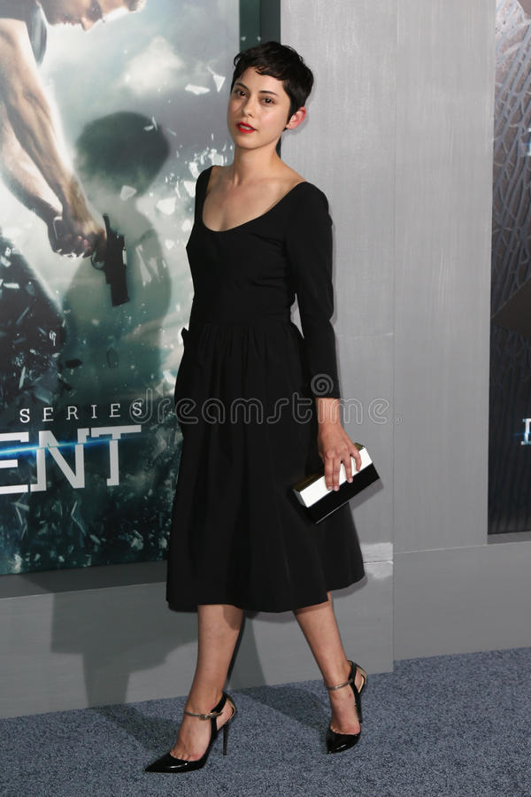 Rosa Salazar. NEW YORK-MAR 16: Actress Rosa Salazar attends the U.S. premiere of The Divergent Series: Insurgent at the Ziegfeld Theatre on March 16, 2015 in New royalty free stock photography