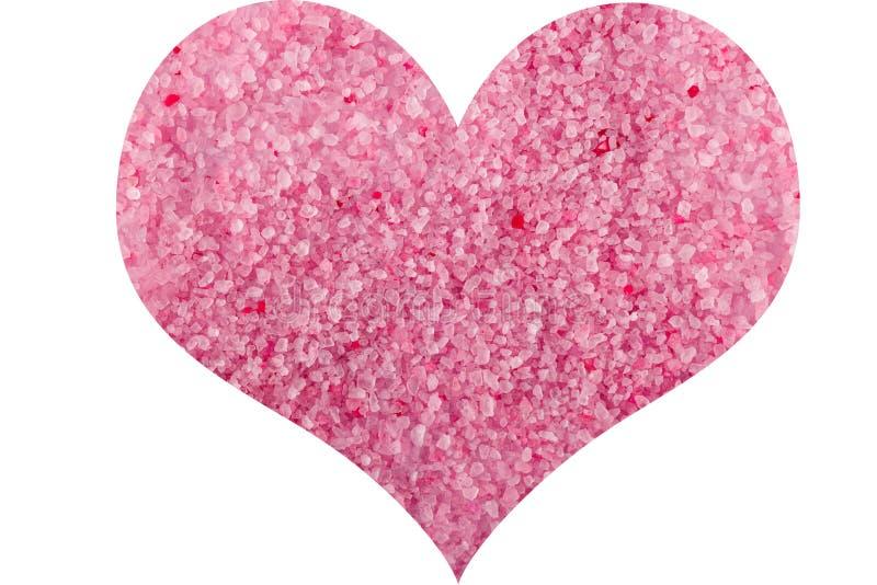 Rosa Salz des Herzens Seefür Valentinsgruß ` s Tag lizenzfreie stockbilder