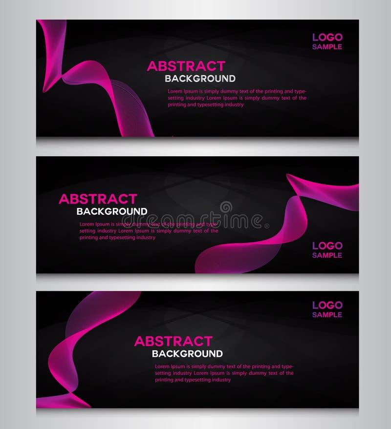Rosa samlingsbanerbakgrunder vektor illustrationer