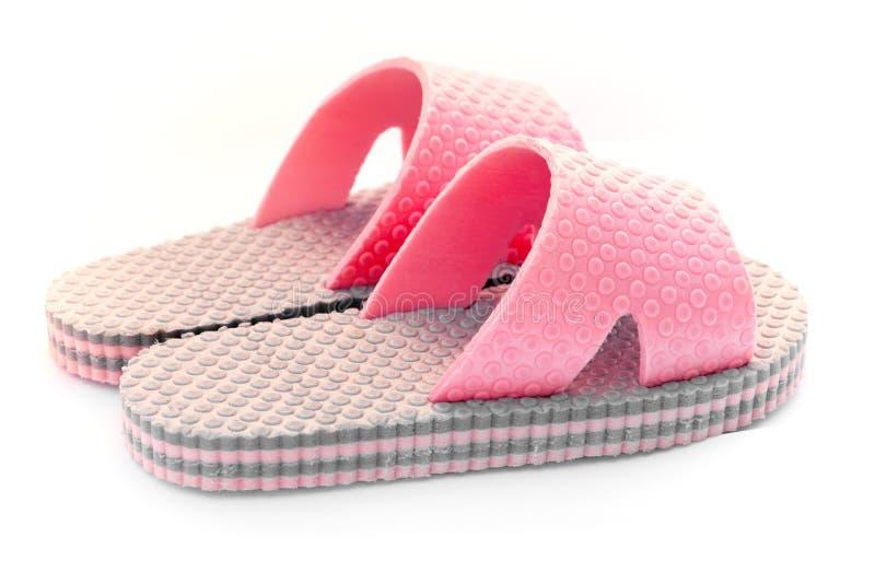 rosa sandals för flickor royaltyfri fotografi