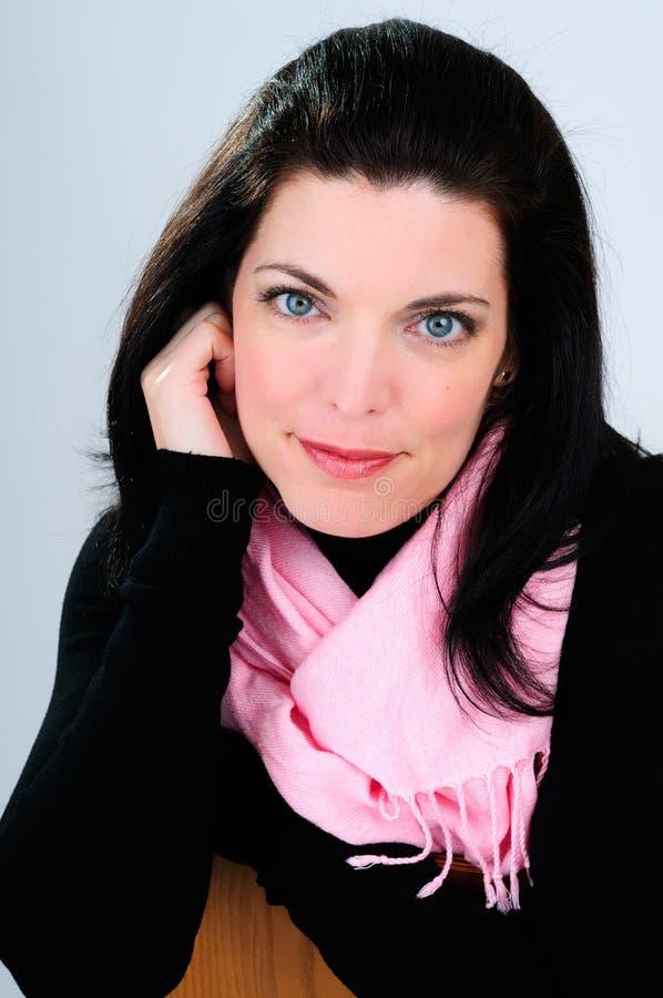 rosa scarf royaltyfria bilder