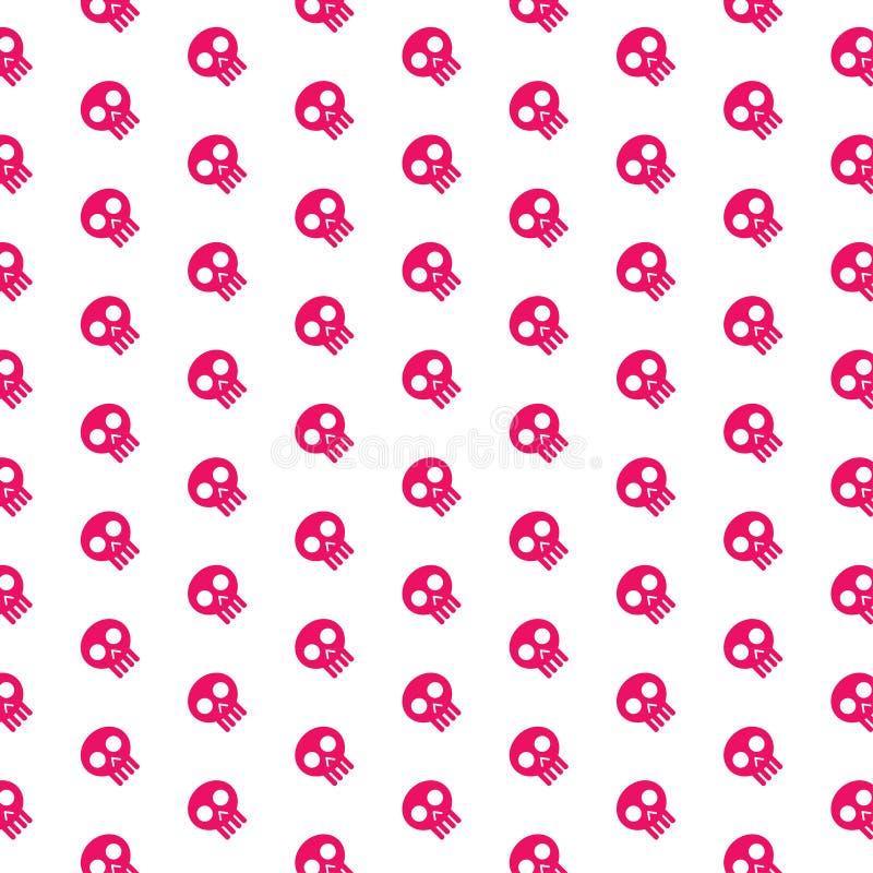 Rosa Schädelmuster lizenzfreie abbildung
