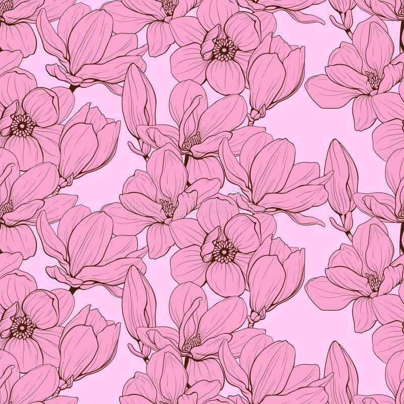 Rosa senza cuciture della magnolia fotografie stock libere da diritti