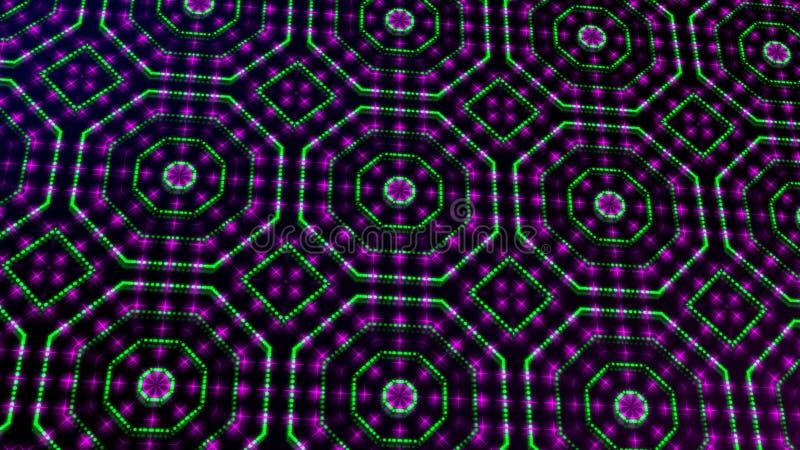 Rosa shinning ligero animado y puntos verdes y formas de las estrellas libre illustration