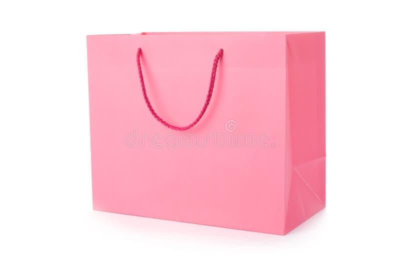 rosa shopping för påse royaltyfri fotografi