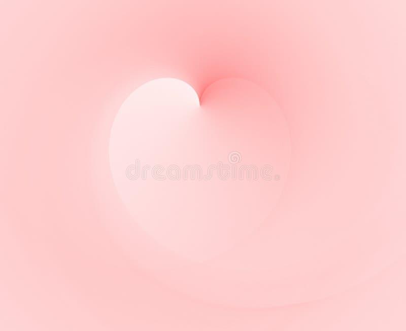 rosa soft för hjärta royaltyfri illustrationer