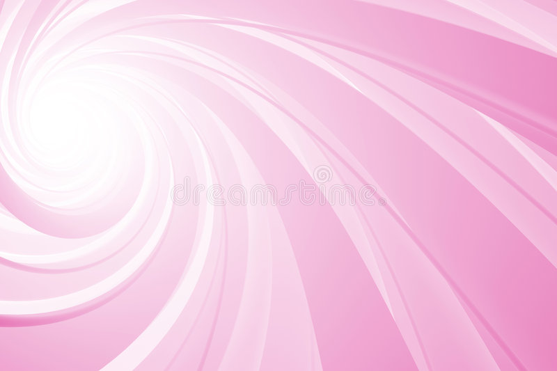 rosa spiral white 3d vektor illustrationer