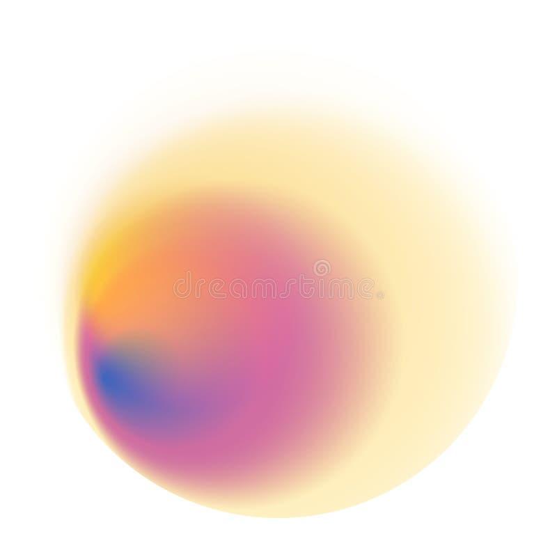 Rosa Steigungskreis lokalisiert auf weißem Hintergrund Gelbes blurre stock abbildung