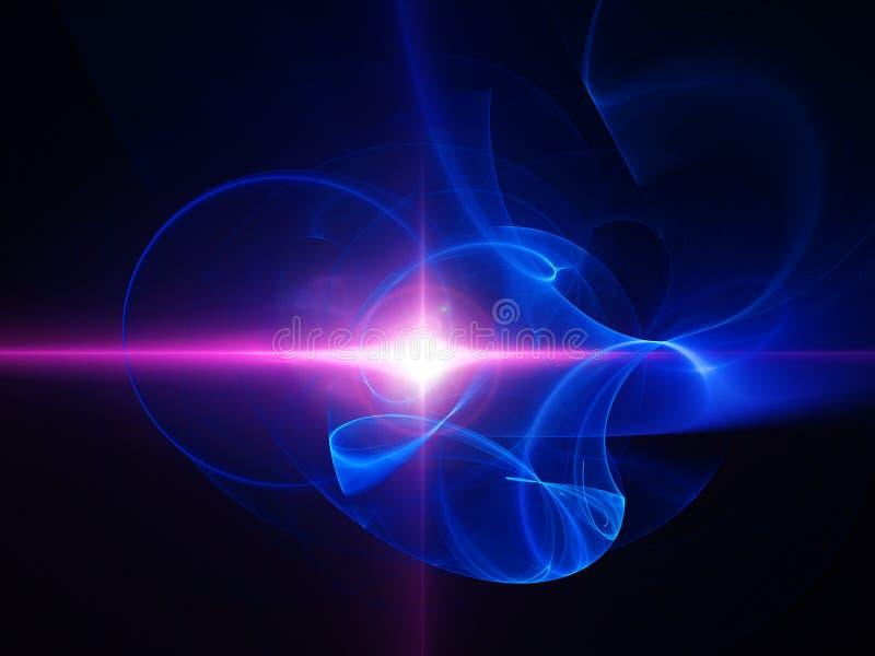 rosa strålstjärna för kaos stock illustrationer