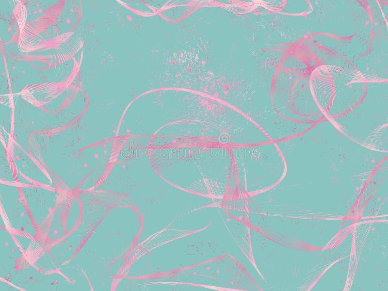 Rosa Strudel über tadellosem Hintergrund stockfotos