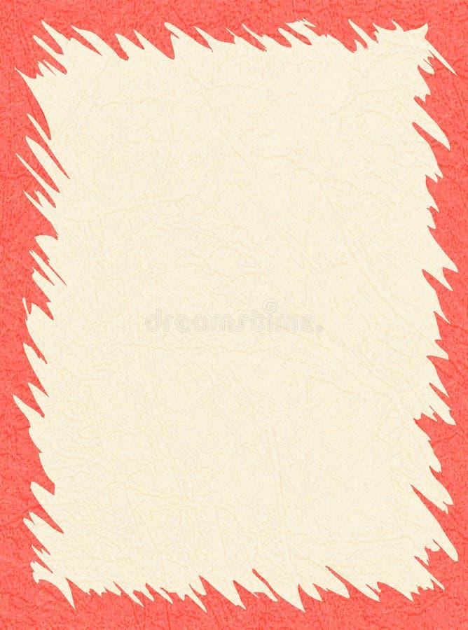 Rosa, struttura rosso-chiaro su fondo giallo con struttura graffiata della pelle, lerciume illustrazione di stock