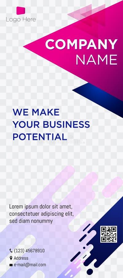 Rosa suave comercial blue-01 de la web de las etiquetas de los jefes de la página web de la empresa de negocios de la bandera ilustración del vector