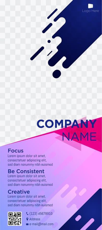Rosa suave comercial blue-03 de la web de las etiquetas de los jefes de la página web de la empresa de negocios de la bandera ilustración del vector