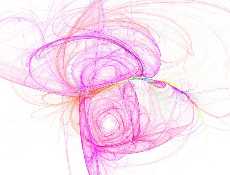 rosa swirl royaltyfri illustrationer