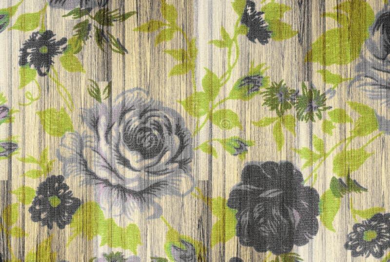 Rosa tappning från tyg på trä arkivbilder