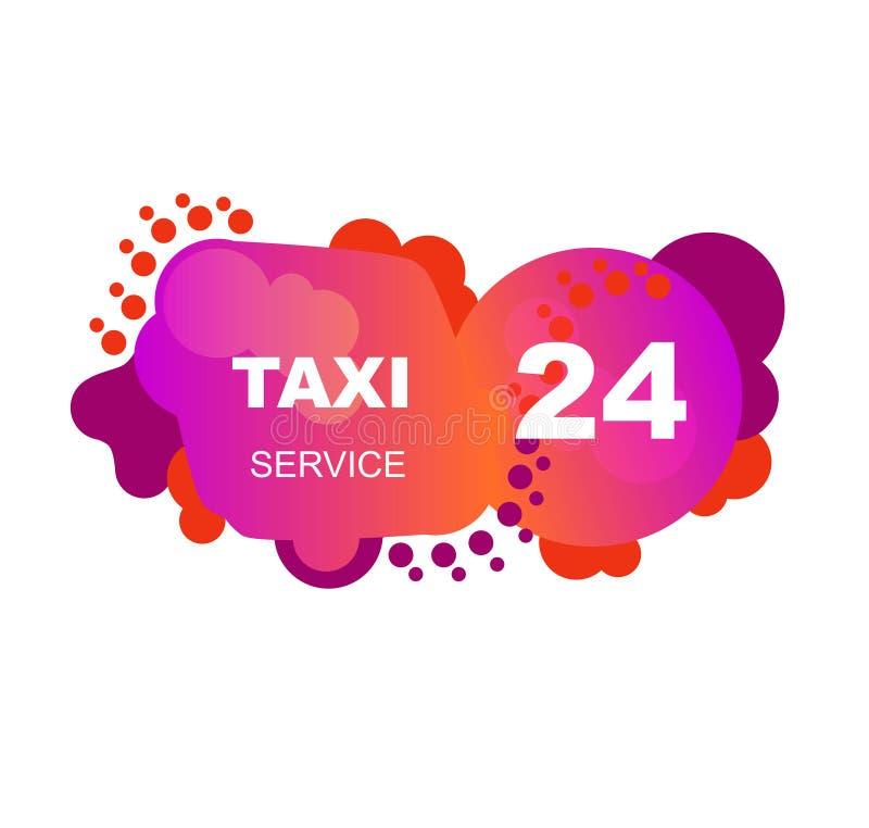 Rosa Taxiflieger von den abstrakten Elementen lizenzfreie abbildung