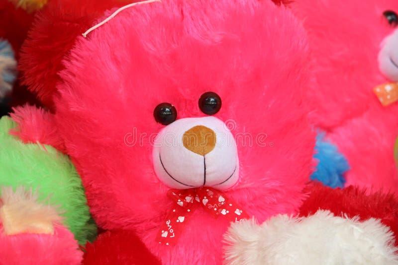 Rosa Teddy Bear Doll royaltyfria bilder